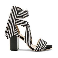 RAYE Maggie Heel (€170) ❤ liked on Polyvore featuring shoes, sandals, heels, strap heel sandals, high heel sandals, heeled sandals, wrap sandals and high heeled footwear