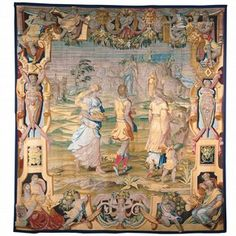 In the early 16th Century, Flanders was the undisputed leader in producing the finest tapestries in Europe.  However, Cosimo I soon made Florence a rival by founding a Medici workshops in 1545,  importing Flemish weavers and commissioning the best artists (including Raphael) to create the designs.