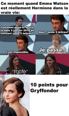 Let me translate: That moment when Emma Watson is actually Hermione in real life. Let me translate: That moment when Emma Watson is actually Hermione in real Harry Potter Disney, Harry Potter Hermione, Harry Potter Film, Harry Potter Anime, Harry Potter Love, Harry Potter Memes, Harry Potter World, New Memes, Funny Memes