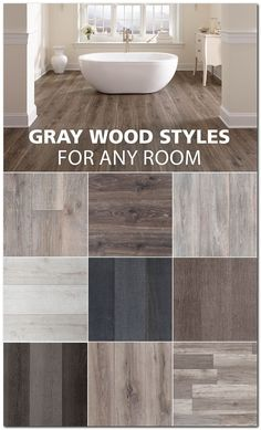 Here are some of our favorite gray wood look styles. Here are some of our favorite gray wood look styles. My Dream Home, Home Remodeling, Home Improvement, Sweet Home, House Styles, Flooring Ideas, Flooring 101, Maple Flooring, Basement Flooring