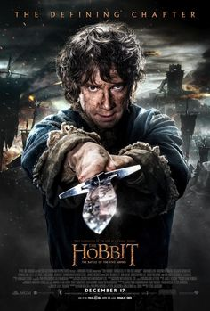 first poster for The Hobbit - The Battle of The Five Armies - Bilbo Character Poster