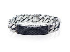 Yurman black diamond curb link bracelet.