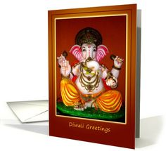 General Deepwali and Diwali Holiday Cards Diwali Greeting Cards, Diwali Greetings, Diwali Festival Of Lights, Colored Chalk, Rangoli Designs, Ganesh, Holiday Cards, Universe, Lord