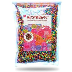 MarvelBeads Water Beads Rainbow Mix (Half Pound) for Spa Refill, Sensory Toys and Décor (Non-Toxic): Arts, Crafts & Sewing Sensory Toys, Sensory Activities, Toddler Activities, Baby Sensory, Rainbow Rice, Water Beads, Outdoor Toys, Outdoor Play, Beading Supplies