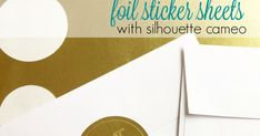 Use the etching or engraving tool or the embossing tip to etch onto gold foil sticker sheets and make stunning stickers with your Silhouette CAMEO. Silhouette School, Silhouette Cameo, Sticker Paper, Stickers, Engraving Tools, Embossed Logo, Silhouette Projects, Gold Foil, How To Make