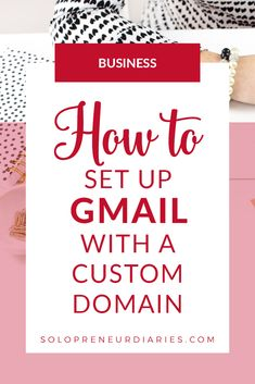 How to set up gmail with a custom domain. Click through for step-by-step guidance on how to use gmail with your own domain. | Blogger Tips | Apps for Bloggers | Small Business Organization #gmail #blogging #entrepreneur Apps For Bloggers, Small Business Organization, Blogger Tips, Craft Business, Step By Step Instructions, Being Used, Good To Know, Entrepreneur, Blogging