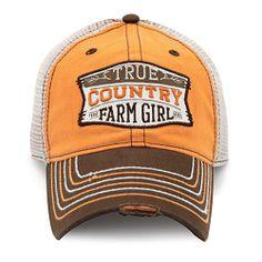 Farm Girl Brand (Adult) `TRUE COUNTRY FARM GIRL` Mesh Back Adjustable Cap