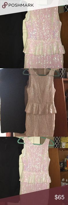Fabulous sequins dress whiteish pink Sequin dress white/pinkish b. darlin Dresses Prom