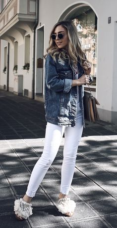 Denim Jacket Outfit Summer 2017 worn by Jecky from Fashion Blog Want Get Repeat - Feminine Summer Style