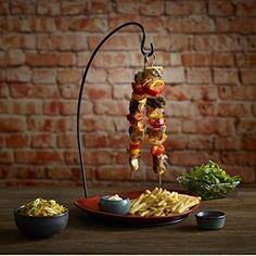 Hanging Kebab Skewer Stand Vertical Holder Serving Barbecue Restaurant Home Gift
