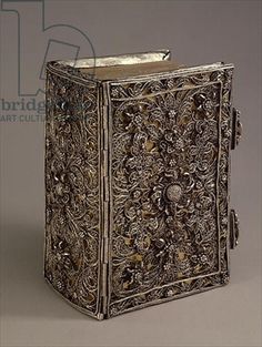 Mid 18th Century, Silver filigree typical of Schwabisch Gmund on Prayer book binding. Kremlin Museum, Moscow. Bridgman Photo Library.