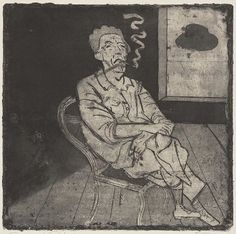 Hans Körnig. Georg Weißwange, 1955, Radierung (Zinkätzung), Aquatinta, Reproduktion: © Olaf Börner/ Museum Körnigreich