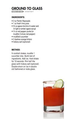 GROUND TO GLASS | Patrón Tequila