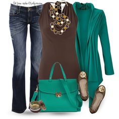 """Falling for Fall"" by sophie-01 on Polyvore  Where can I find that green sweater jacket! Gorgeous color!"