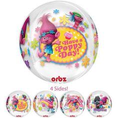 16 Inch Orbz Trolls Balloon, Trolls Birthday, Poppy
