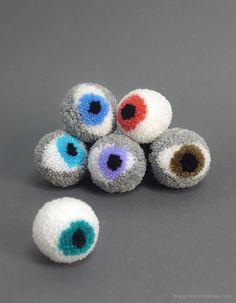 make it: pompon eyeballs