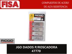JGO DADOS P/ROSCADORA 47770. Compuesto de acero de alta resistencia- FERRETERIA INDUSTRIAL -FISA S.A.S Carrera 25 # 17 - 64 Teléfono: 201 05 55 www.fisa.com.co/ Twitter:@FISA_Colombia Facebook: Ferreteria Industrial FISA Colombia