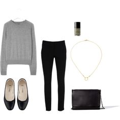 """Grey"" by trenchcoatandcoffee on Polyvore"