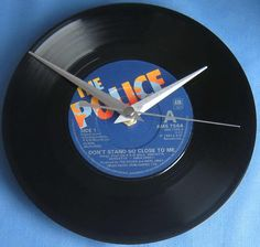 The Police Vinyl Record Clock Don't Stand So Close To Me single wall decor gift for music fan sting andy summers stewart copeland uk group