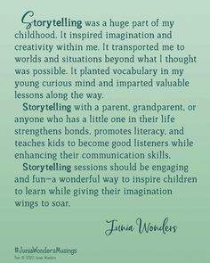 #story #storytelling #storyteller #readabook #juniawonders Vocabulary, Storytelling, Read More, Books To Read, How To Find Out, Parenting, Mindfulness, Thoughts, Reading