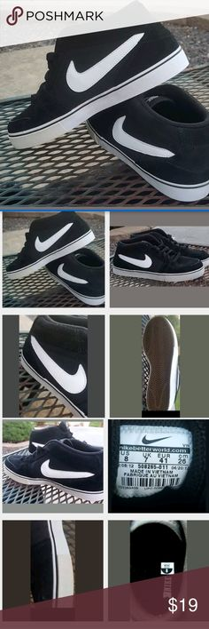 Nike Ruckus  midl Lr mens size 8 Look almost new. . They are pre owned but minimal signs of wear. Slight yellowing on side route Nike Shoes Sneakers