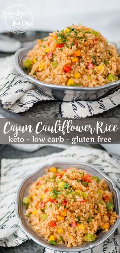 This cajun cauliflower rice has all the perfectly spicy flavors of a Louisiana style cajun rice recipe, but without all the extra carbs cauliflowerrice keto cajunfood cajunketo 364228688613476383 Cajun Recipes, Paleo Recipes, Low Carb Recipes, Real Food Recipes, Creole Recipes, Ketogenic Recipes, Cookie Recipes, Low Carb Side Dishes, Side Dish Recipes
