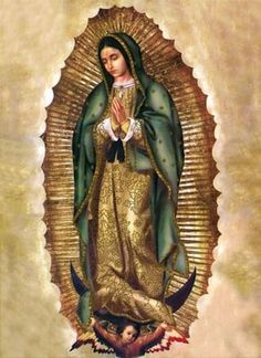 Our Lady of Guadalupe, the Virgin of Guadalupe Blessed Mother Mary, Blessed Virgin Mary, Religious Images, Religious Art, Jungfrau Maria Statue, Virgin Mary Statue, La Madone, Jesus Christ Images, Images Of Mary