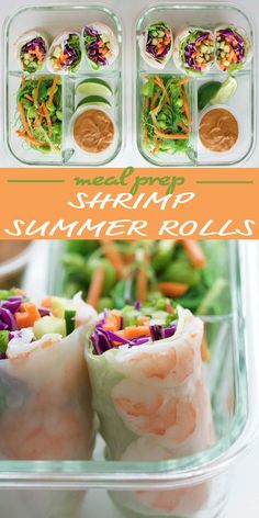 Shrimp Summer Roll Meal Prep - a great no-heat summer lunch!