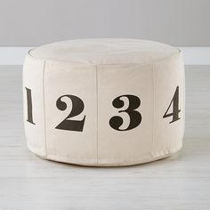 Numbers Pouf (Natural) | The Land of Nod