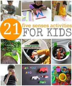 21 Ways for kids to learn about the 5 senses