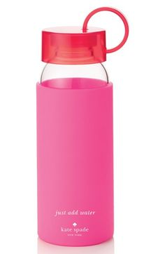 Plastic is bad kate spade new york glass & silicone water bottle available at #Nordstrom