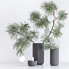 Lyngby snowflake - 3 pak hvid porcelæn - LyngbyShop
