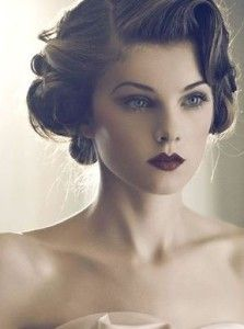 wedding updo vintage finger wave headband - Google Search #FingerWaveUpdo