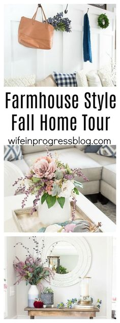 A whole collection of bloggers share their beautiful farmhouse style fall home tours.