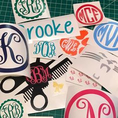 You posted on Instagram: ALL DECALS NOW FREE SHIPPING!! Cuttincrazy.Etsy.Com #cuttincrazy #vinyldesigns  #customorder #monogramdecal #freeshipping — view photo