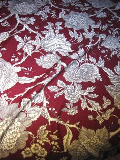 9 Yd Bolt End of Screen Printed Linen Union Paisley by Robert Allen from faywrayantiques on Ruby Lane