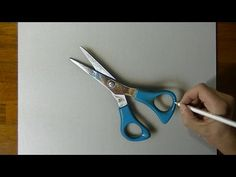 Drawing a pair of scissors - 3D Art - Marcello Barenghi