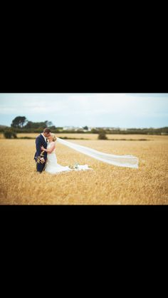 Barley field with my parents house and wedding marquee in the background