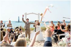 Lake Michigan Beach Wedding at Harbor Lights Resort.  Elberta Life Saving Station Wedding Harbor Lights Resort   Rayan Anastor Photography   Frankfort MI    Northern Michigan Wedding