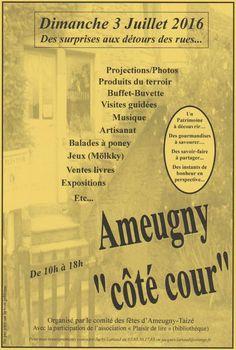 """Journée découverte et festive Ameugny """"côté cour"""" le 3 juillet 2016 : http://clun.yt/28OFVag"""