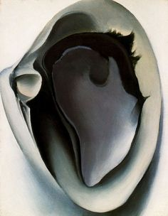 "Georgia O'Keeffe's ""Clam and Mussel"", 1926 #GeorgiaOKeeffe #Art #Precisionism #Paintings #Shells"