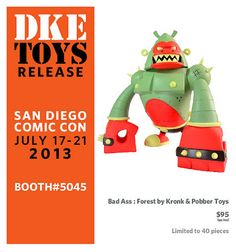 """San Diego Comic-Con 2013 Exclusive """"Forest"""" Bad Ass Vinyl Figure by Kronk & Pobber Toys"""