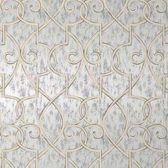 Hampton Lattice Wallpaper in Metallic Silver from PoshTots