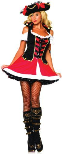 Amazon.com: Leg Avenue Women's Aye Aye Admiral Costume: Clothing