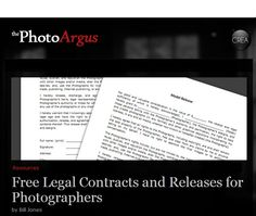 Photography Contracts & Release Forms for Photographers - The Photo Argus Photography Contract, Snap Photography, Birth Photography, Photography Business, Photography Ideas, Business Photos, Creative Business, Studio Portraits, Model Release