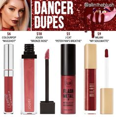 Kylie Cosmetics' shade from the Holiday Collection in Dancer dupes