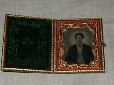 Vintage Antique Daguerreotype Photo Victorian Man Full Case | eBay
