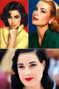 """According to this, it's mostly about full eyebrows, lashes, and lips. """"1950s Make up tutorial"""""""