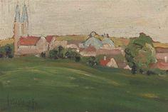 View of Klosterneuburg - Egon Schiele