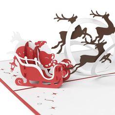 Santa Sleigh pop up card - thumbnail                                                                                                                                                                                 More